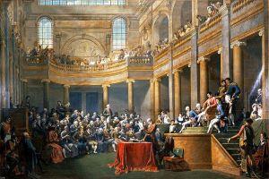 26 gennaio 1802, La Consulta della Repubblica Cisalpina riceve il Primo Console (Nicolas-André Monsiau, 1806-08).