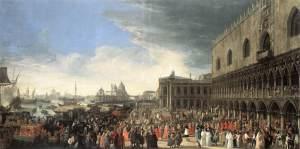 ricevimento a Palazzo ducale del CardinaleD'Estrées