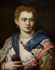 Tintoretto, ritratto di signora, probabilmente dedicato a lei.