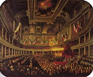 Pietro Tetar van Elven, Inaugurazione del Parlamento a Palazzo Madama il 2 aprile 1860,
