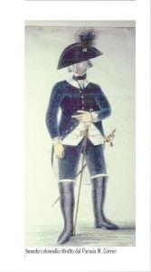 colonnello con bicorno gallonato di seta nera