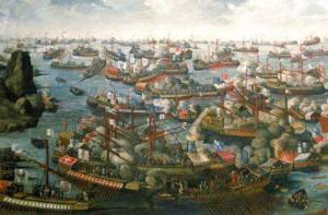 battaglia navale a Lepanto (Curzolari) fu uno scontro tra galee