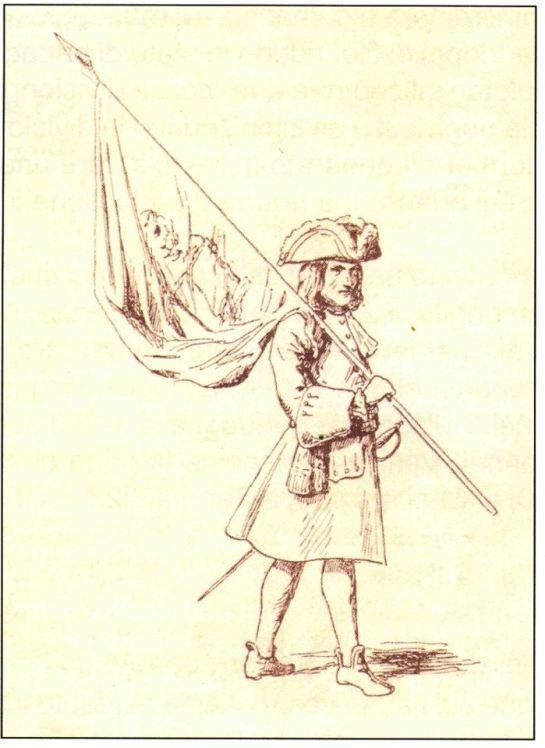 alfiere fanteria pr meta del 700