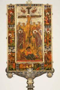 Reliquiario della Vera Croce del Cardinal Bessarione. Prima del restauro.