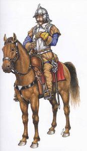 Generalmente vi era  per ciascuna compagnia di cappelletti a cavallo. Aveva l'incarico della trasmissione degli ordini col suo strumento.