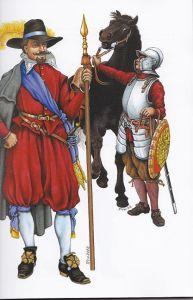 capitano di fanteria e suo attendente (ragazzo)