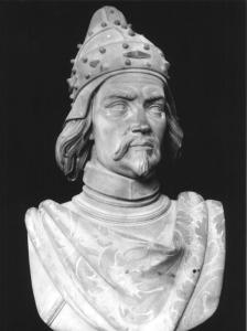 il busto di Francesco Morosini conservato a palazzo Dogal, di F. Parodi