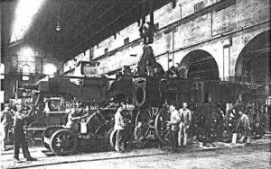 le officine Breda, l'italia continuò lo sviluppo ferroviario della penisola