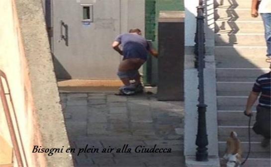 Alla Giudecca bisogni en plein air.